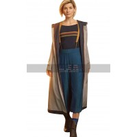 Womens 13th Doctor Jodie Whittaker Trench Coat