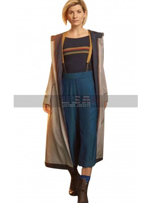 Womens 13th Doctor Jodie Whittaker Wool Trench Coat