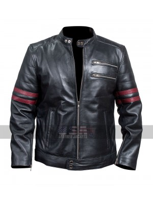 Being Human Sam Witwer (Aidan Waite) Black Biker Leather Jacket