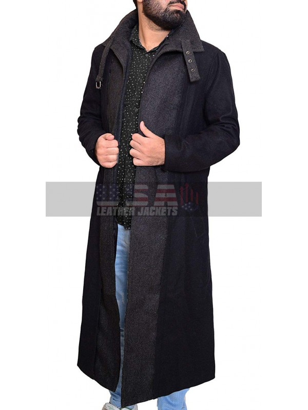 Altered Carbon Takeshi Kovacs Black Trench Wool Coat