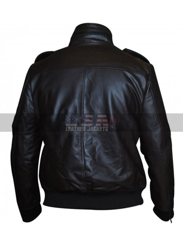 Brooklyn Nine Nine Jake Peralta Brown Bomber Leather Jacket