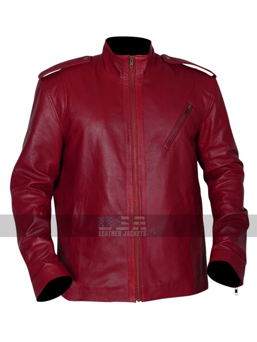 Ash vs Evil Dead Ash Williams Maroon Biker Leather Jacket