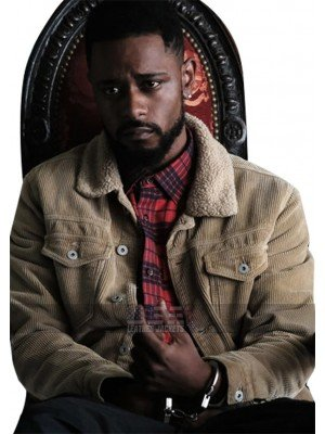 Atlanta Darius (Lakeith Stanfield) Fur Collar Corduroy Beige Jacket