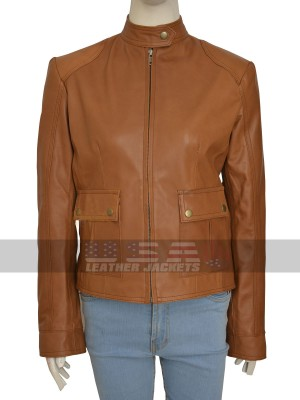 The Avengers Scarlett Natasha Romanoff Tan Brown Leather Jacket