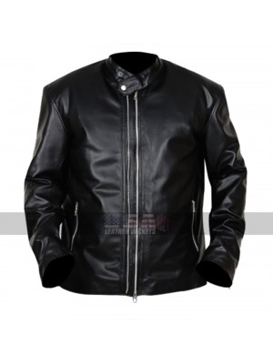 Lucifer TV Series D.B. Woodside (Amenadiel) Black Leather Jacket