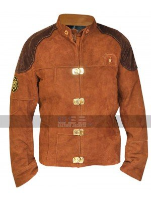 Battlestar Galactica Colonial Viper Pilot Brown Costume Jacket