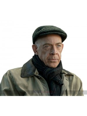 Tv Show Counterpart J.K. Simmons Howard Silk Peach Cotton Jacket