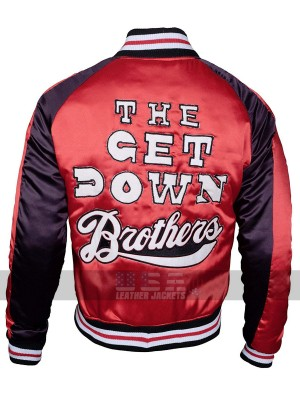 Marcus Dizzee Kipling The Get Down Brothers Varsity Bomber Jacket