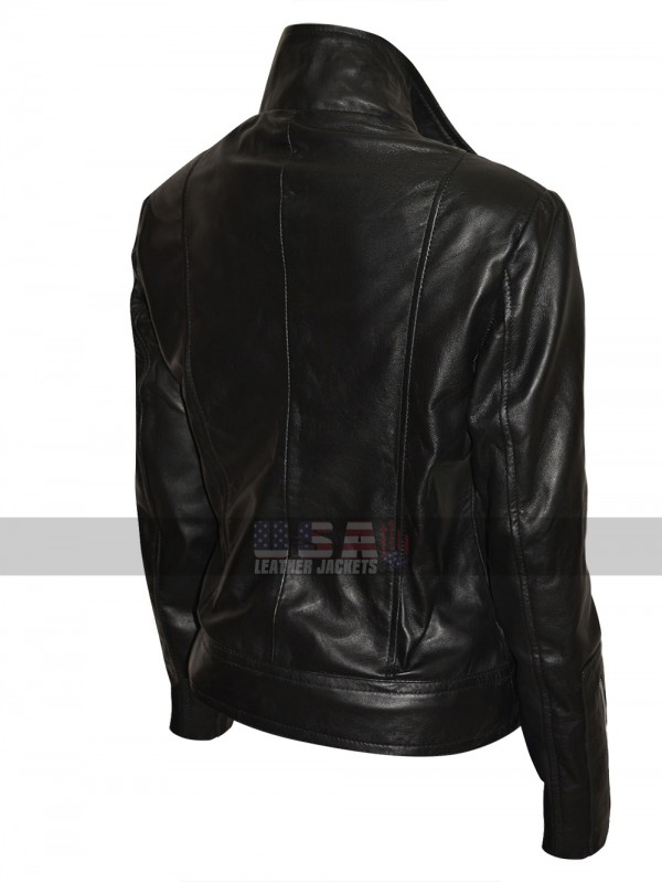 Fringe Anna Torv (Olivia Dunham) Slim Fit Black Leather Jacket
