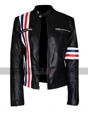 Future Man Tiger Eliza Coupe Biker Leather Jacket