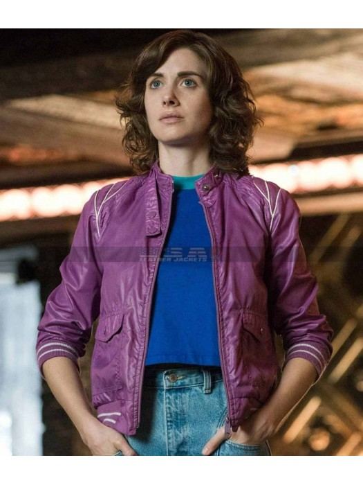 Glow Ruth Wilder Costume Leather Jacket