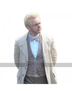 Michael Sheen Good Omens Aziraphale Cotton Coat