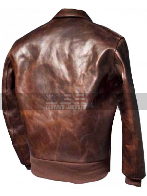 Happy Days Fonzie Motorcycle Bomber Leather Jacket
