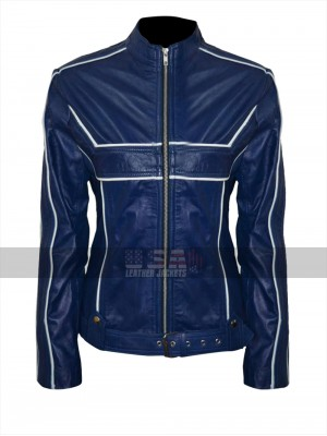 Once Upon a Time Emma Swan (Jennifer Morrison) Blue Leather Jacket