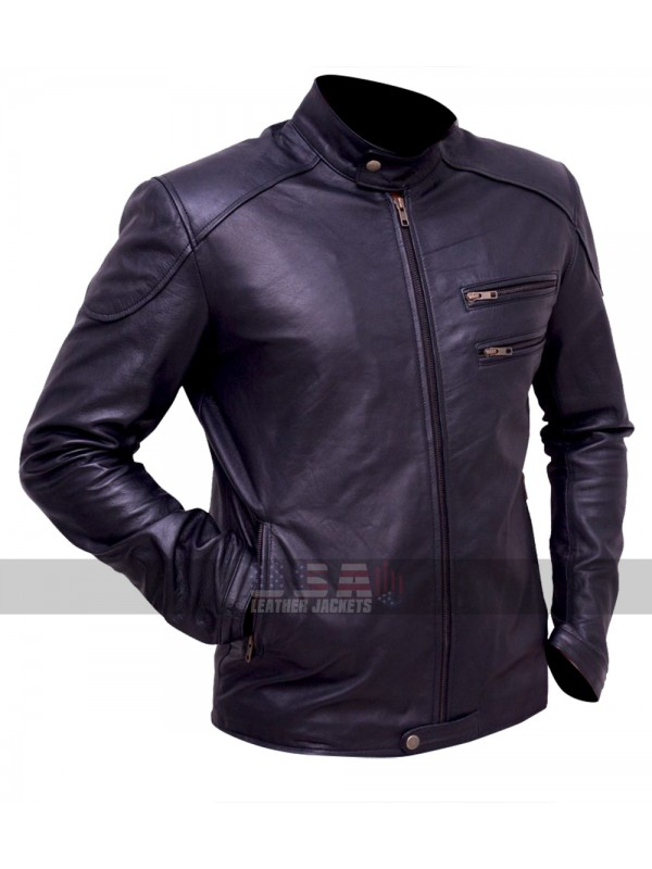 BREAKING BAD AARON PAUL (JESSE PINKMAN) BIKER LEATHER JACKET