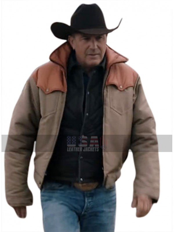 Yellowstone Kevin Costner John Dutton Leather Jacket And