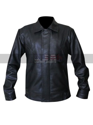 Michael Knight Rider Black Bomber Leather Jacket
