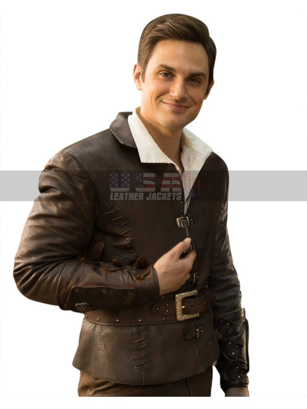 Once Upon a Time Henry Mills Brown Costume Leather Jacket
