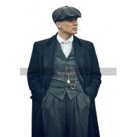 Peaky Blinders Thomas Shelby Black Trench Coat