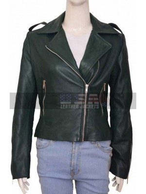 Preacher Tulip O'Hare Motorcycle Green Leather Jacket