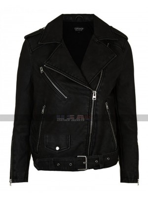 Pretty Little Liars Emily Shay Mitchell Biker Leather Jacket