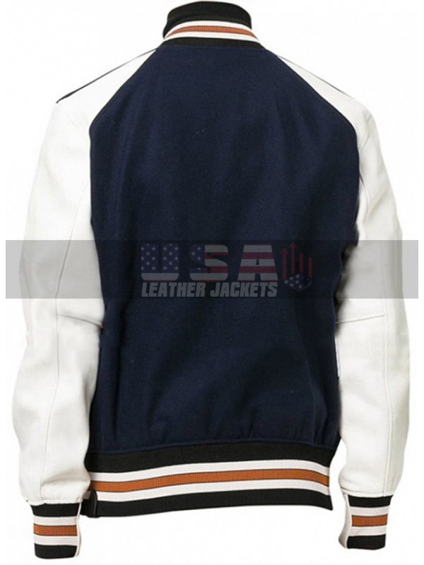 Lil Rel Howery Varsity Letterman Bomber Wool Jacket