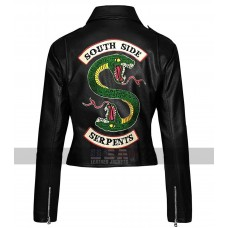 Southside Serpents Women Riverdale Biker Faux Leather Jacket