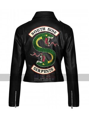 Riverdale Southside Serpents Women Biker Leather Jacket