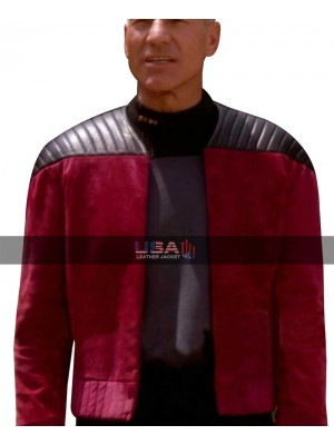 Captain Picard Star Trek Next Generation Suede Leather Jacket