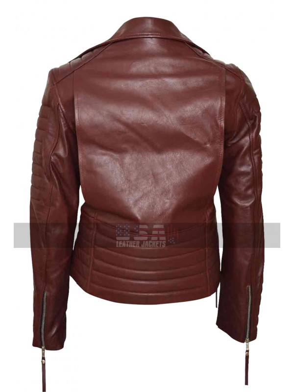 Brooklyn Nine Nine Stephanie Beatriz (Rosa Diaz) Biker Leather Jacket