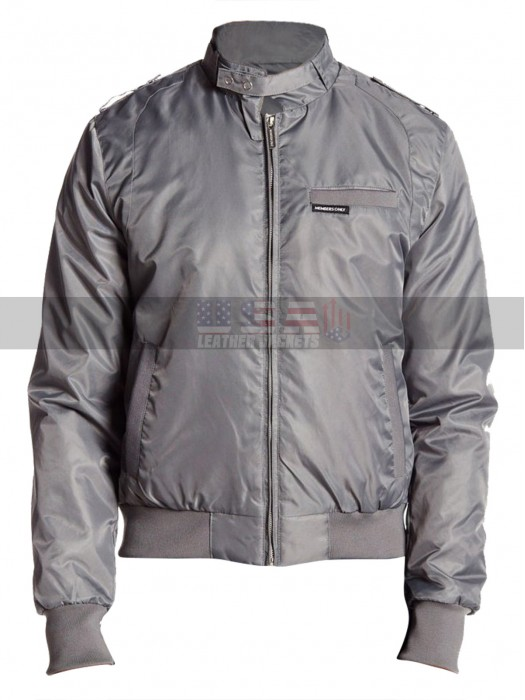 Joe Keery Stranger Things Grey Satin Bomber Jacket