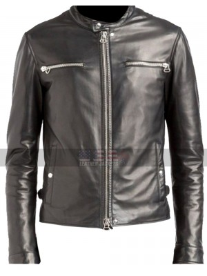 The Defenders Luke Cage (Mike Colter) Biker Black Leather Jacket
