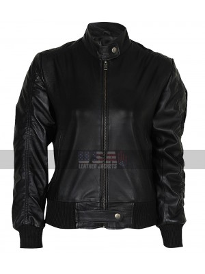The Vampire Diaries Nina Dobrev (Elena Gilbert) Bomber Leather Jacket
