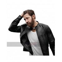 Tom Clancy's Jack Ryan John Krasinski Biker Black Leather Jacket