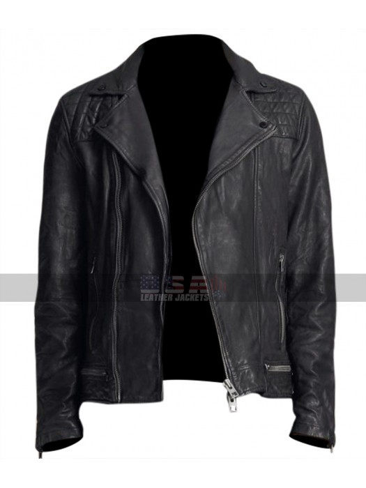 13 Reasons Why Tony Padilla Quilted Shoulders Black Jacket