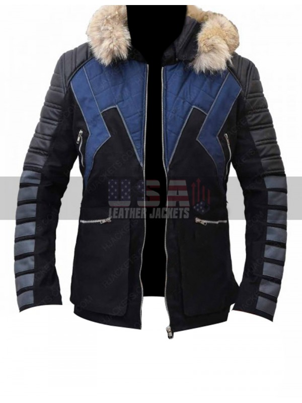 Cold Gun Leo Snart Legends of Tomorrow Winter Hooded Parka Bomber Jacket