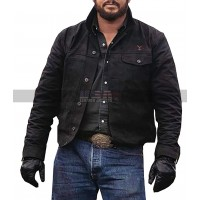 Yellowstone Rip Wheeler Costume Cole Hauser Black Suede Leather Jacket