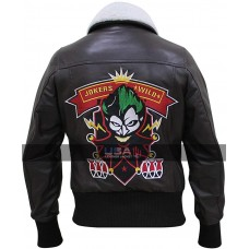 Joker Women Bombshell Harley Quinn Leather Jacket