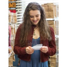 13 Reasons Why Hannah Baker Maroon Cotton Jacket