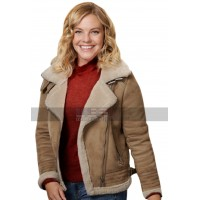 A Veteran's Christmas Grace Garland Fur Shearling Suede Leather Jacket