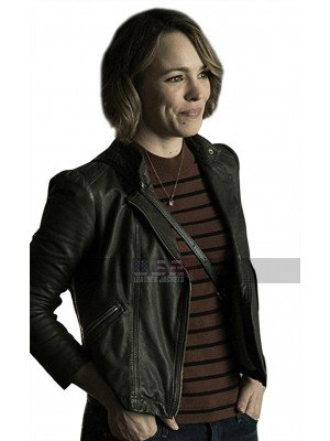 Game Night Rachel McAdams (Annie) Round Collar Leather Jacket