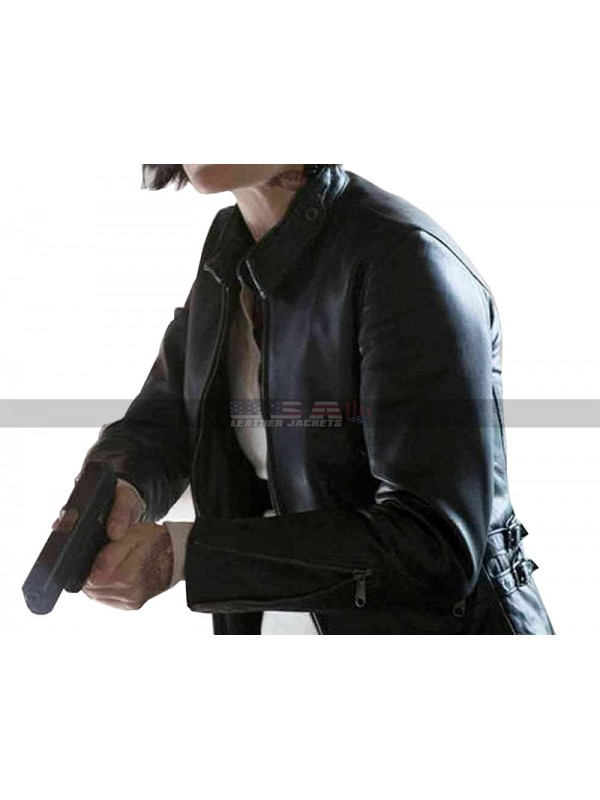 Womens Blindspot Jane Doe Black Leather Jacket