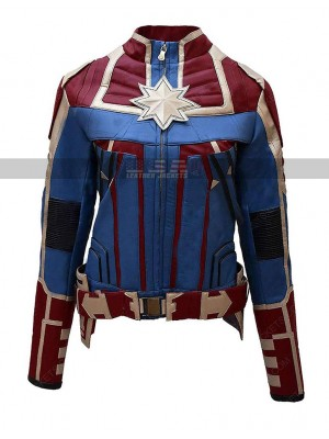 Ms Marvel Carol Danvers Costume Leather Jacket
