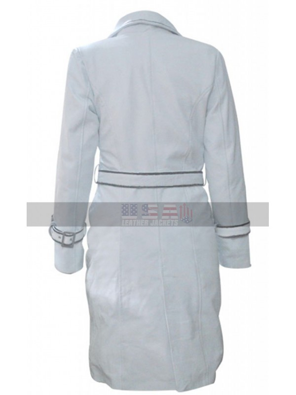 Daryl Hannah (Elle Driver) Kill Bill White Leather Jacket