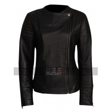 Doctor Who Clara Oswald (Jenna Coleman) Black Leather Jacket