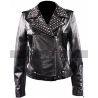 Women's Domino Harvey Keira Knightley Black Biker Leather Jacket