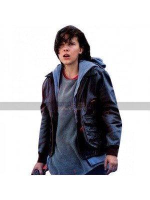 Godzilla: King of the (Monsters Millie Bobby Brown) Black Leather Jacket