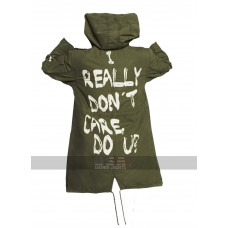 Melania Trump I Really Don't Care Do U Cargo Cotton Hooded Jacket