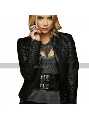 Pretty Little Hanna Marin Liars Ashley Benson Biker Leather Jacket