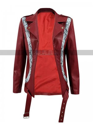 Olivia Cooke Ready Player One Samantha Artemis Red Biker Leather Jacket